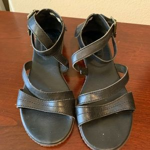 Timberland Leather Ankle Wrap Sandal Sz 7